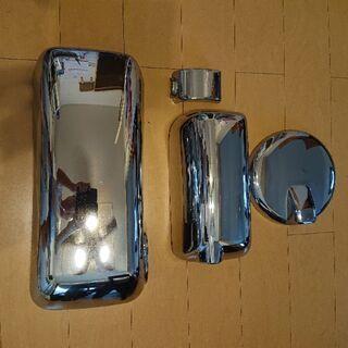 ②トラック用品中古スーパーグレート用メッキミラーカバー4点セット