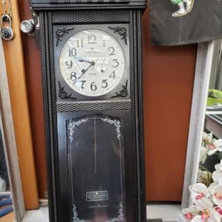 中古 柱時計 壁掛時計 古時計 振り子時計