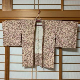 お洒落柄 着物羽織り 【リメイク】【古布】女性用