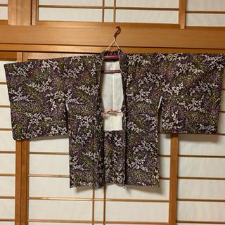 カラフル柄 着物羽織り【リメイク】【古布】女性用