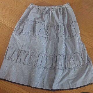 ○ひざ下スカート紺フリーサイズ