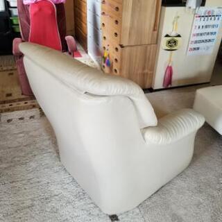 3掛ソファ(合皮) - 家具