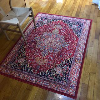 ( 約4ヵ月使用)絨毯 マット フロア絨毯 ラグ カーペット 土...