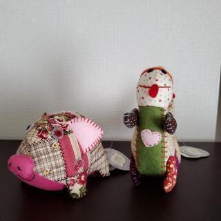 タグ付き(折れあり)布製人形