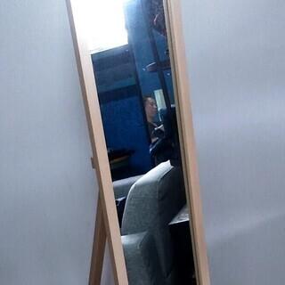 引取限定★ スタンドミラー 木製 姿見 鏡 在庫複数あります!