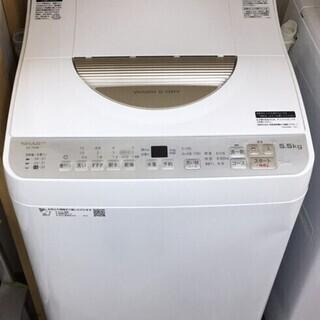 シャープ 5.5k 洗濯機 ES-TX5B 2018年 J010