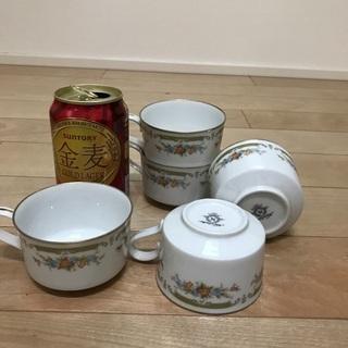 113、花柄紅茶カップ  Noritake  5個