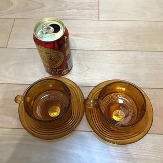 115、フランス製カップ&ソーサー 2組 - 岡山市