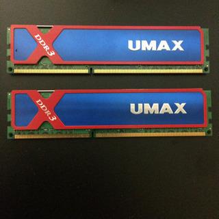 UMAX  DDR3メモリ 4GB ×2  1600OC