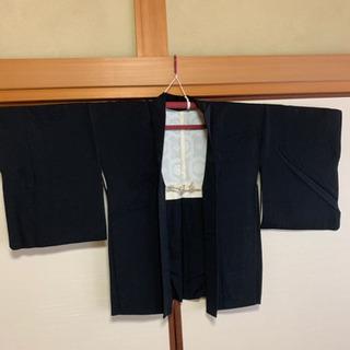 黒 羽織り女性用 刺繍【リメイク】