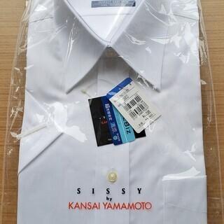 (新品同様)(未開封)メンズ 無地Yシャツ 長袖2着+半袖1着セット