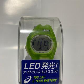 未使用品 アシックス ランニングウォッチ LED発光 ナイ…