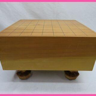脚付 木製 将棋盤 一枚板 重厚感のある将棋盤です