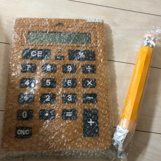 BIGサイズ電卓&ペンシル付♪