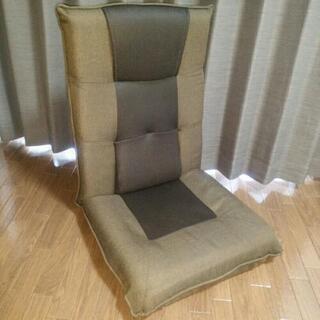 頭部可変式腰楽座椅子 ブラウン
