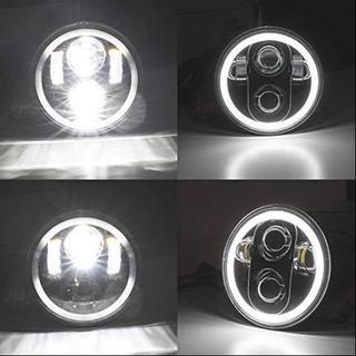 LEDヘッドライト 5.75インチ イカリング❗️