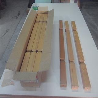 手摺ルーバー用木製子柱(米松塗装品)12本