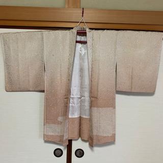羽織り女性用 グラデーションピンク 刺繍 美品