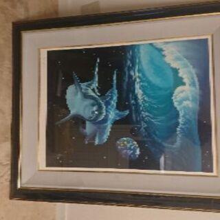 シム・シメール「海からのメッセージ」絵画(ジークレー)