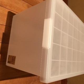 【残5】【お値下げ】無印良品 PPキャリーボックス・深(蓋つき)   300円  - 家具