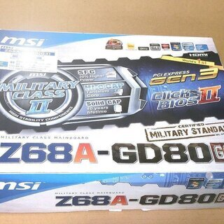 【未使用新品】マザーボードMSI製 Z68A-GD80G3…