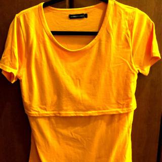 授乳服 授乳口付きTシャツ 大きめ LL