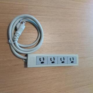 O A 電源タップ 4個口