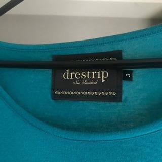 drestripドレストリップ  5分丈Tシャツ 青