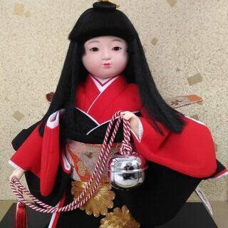 飾り人形・祝鈴(ガラスケース付き)