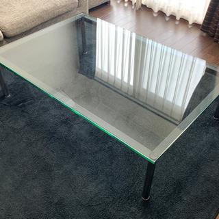 ル・コルビジェ LC-10 ガラステーブル 120cm幅 コーヒ...