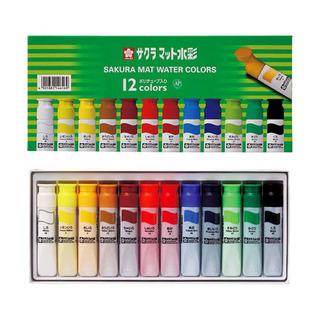 サクラマット水彩12色絵の具