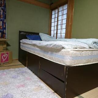 シングルベッド(フレーム、マットレス)