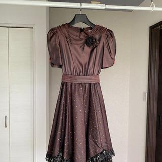 ドレス(ブラウン)パニエ付き