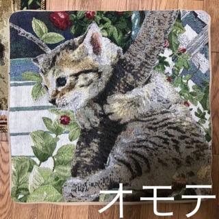 可愛い猫のクッションカバー2枚セット