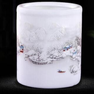 新品 陶器製 ペン立て ペンスタンド ペンケース 卓上スタ…