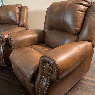 [アメリカ家具] 良品 レザーリクライニングチェア