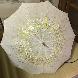 レトロ風レース柄日傘 レディース