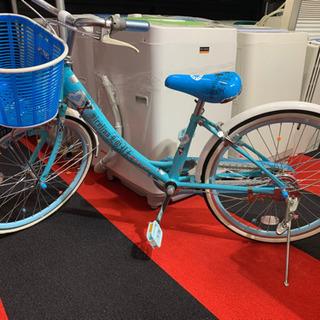 823☆ 22インチ 子供用自転車 青 ブルー 水色 自転車