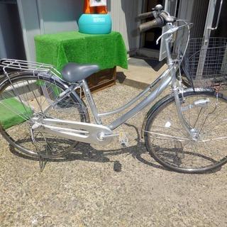 Panasonic 27インチ自転車 シルバーVESTR 中古