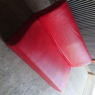 【値下げ】赤いオシャレなソファ