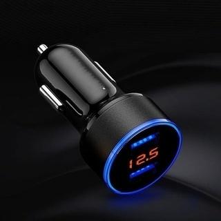 3.1A電圧計付USB充電器2ポートLCDディスプレイ12-24...