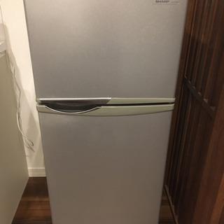 【0円】SHARP 冷凍冷蔵庫 118㍑ SJ-H12W-S