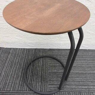 ss1173 木製 サイドテーブル 円形 ブラウン シンプル 丸...