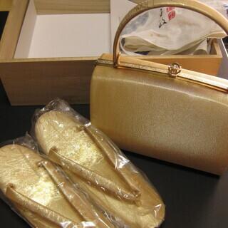 和装 バッグと草履のセット 金色 未使用新品