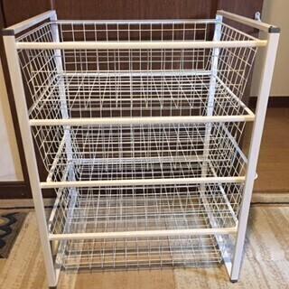 【あげます】IKEAヨナクセル ワイヤーバスケット4段(お届けも可)の画像