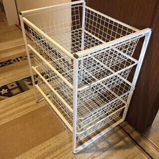 【あげます】IKEAヨナクセル ワイヤーバスケット4段(お届けも可) - 中野区