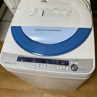 No.295 SHARP 5.5kg洗濯機 E4エラー