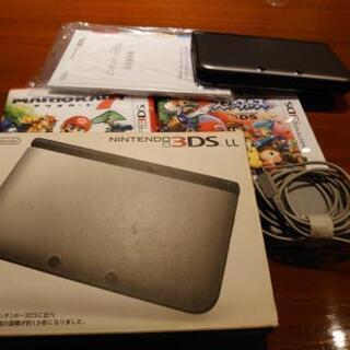 任天堂3DS LL+ソフト2本(マリカー7&スマブラ)
