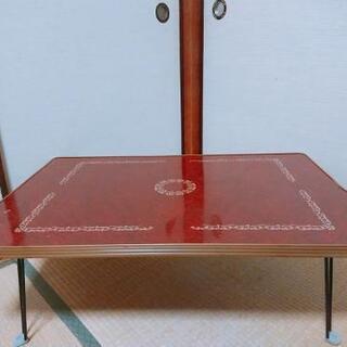 【訳あり無料】折りたたみローテーブル