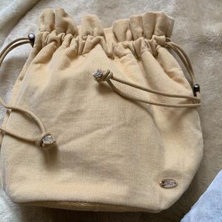 フーズフーチコ コーデュロイ巾着バッグ